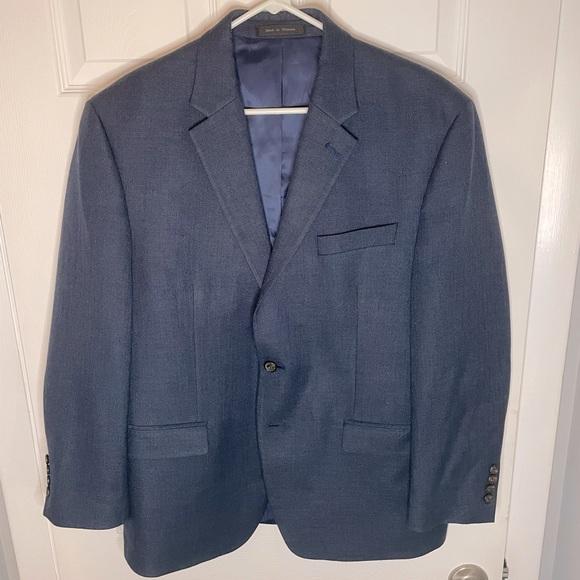 RALPH LAUREN Sport Coat Blue Size 44S (short) EUC!